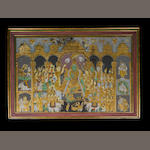 The Coronation of Rama [?], Tanjore, South India, mid-19th Century