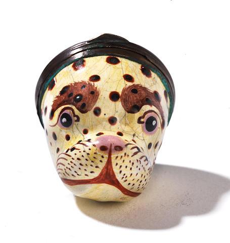 Leopard head Bonbonniere (cracks)