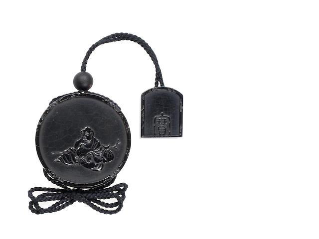 A rare black lacquer inro By Shibata Zeshin (1807-1891), Meiji Period