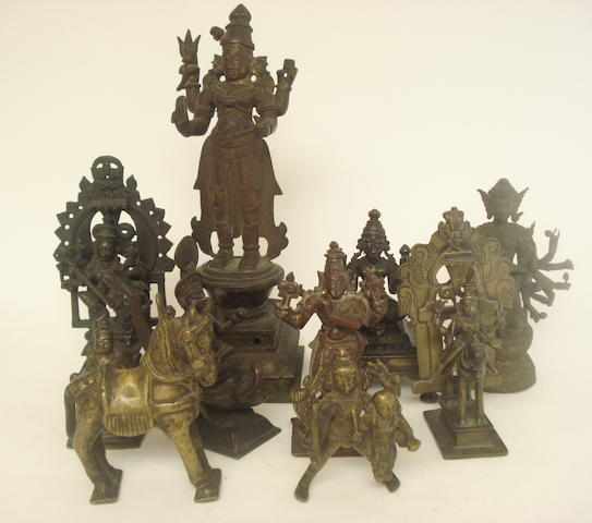 A collection of multi-armed figures Indian, Nepalese and Thai