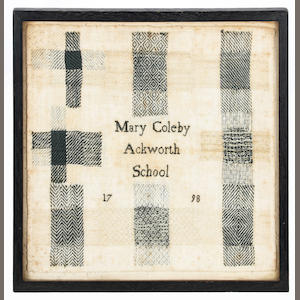 A 1798 Ackworth School darning sampler by Mary Coleby