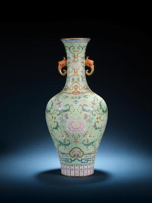One famille rose vase