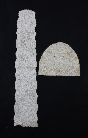 An early 18th century Brussels bobbin lace lappet