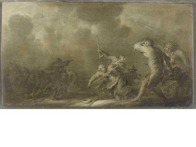 Adriaen Pietersz. van de Venne (Dutch, Delft 1589-1662 The Hague) Peasants fighting unframed