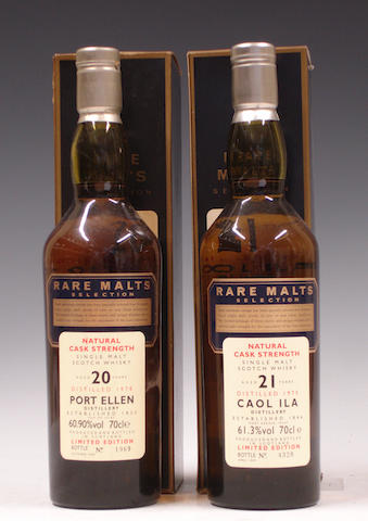 Port Ellen-20 year old-1978Caol Ila-21 year old-1975