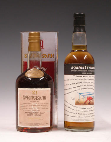 Springbank-21 year oldSpringbank Against The Grain-10 year old