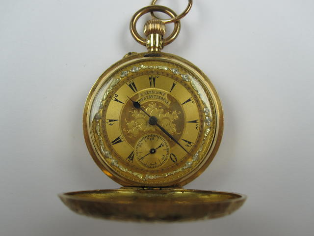 A full hunter pocket watch