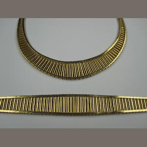 A necklace and bracelet suite, circa 1970s (2)