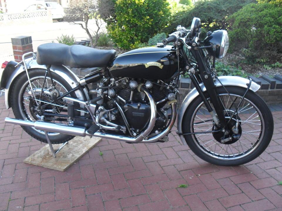 1950 Vincent 998cc Series C Black Shadow Frame no. RC/1/7578 Engine no. F10AB/1B/5624