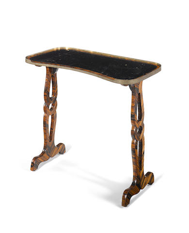 A Regency calamander writing table in the French taste