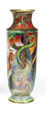 Daisy Makeig-Jones for Wedgwood 'Tree Serpent' a Fairyland Lustre Vase, circa 1920
