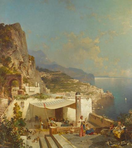 Franz Richard Unterberger (Austrian, 1838-1902) Amalfi, Golfe de Salerne