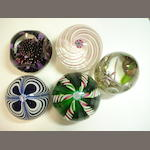 A collection of Peter Holmes paperweights Including limited edition examples