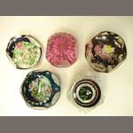 A collection of William Manson faceted paperweights Limited edition examples