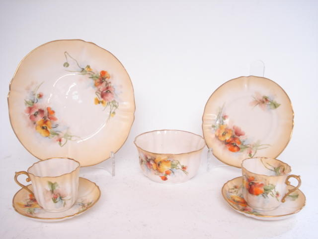 A Nautilus porcelain teaset 19th century