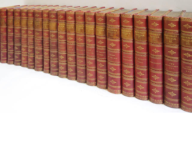 SCOTT (WALTER) The Waverley Novels, 25 vol., contemporary half calf, Edinburgh, Adam and Charles Black, 1871