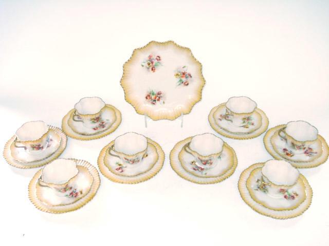 A Nautilus porcelain tea service