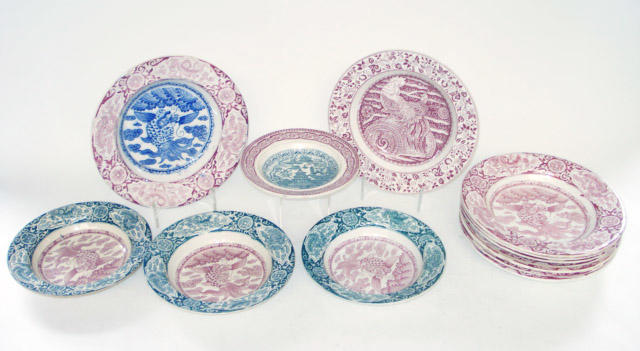 A collection of J & M P Bell & Co earthenware bowls 19th century