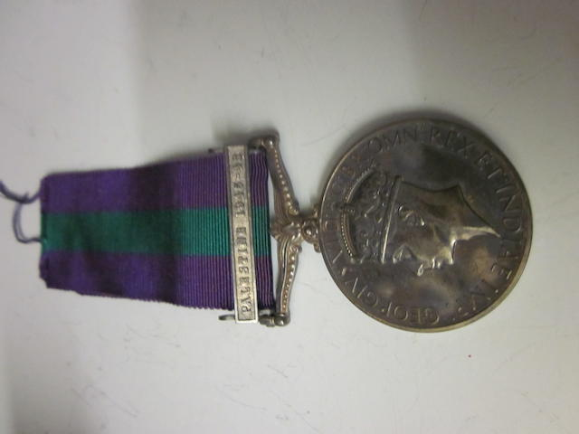 Palestine 1945-48 to Private A A Rees R.A.S.C.