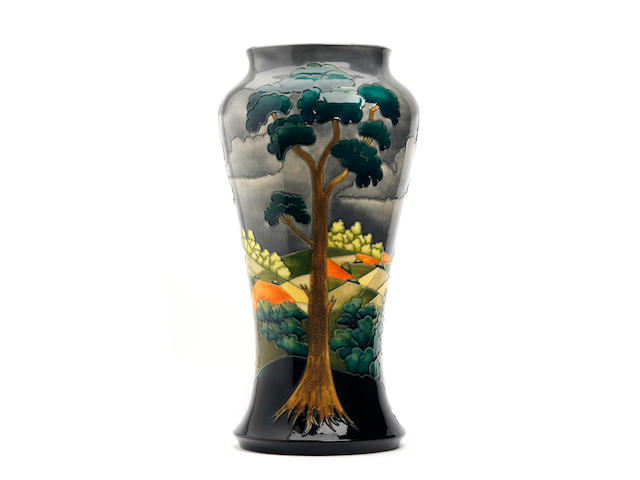 A large Moorcroft limited edition 'After the Storm' vase, designed by Walter Moorcroft Dated 1998
