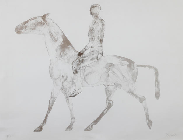 Dame Elisabeth Frink R.A. (British, 1930-1993) 'The Grey Rider'