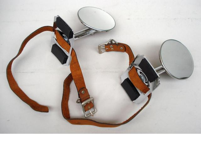A pair of reproduction wheel mounted side mirrors