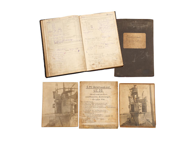 Two Scarce and Important WWI German U-Boat Logbooks From S.M. Unterseeboot U.C.20.