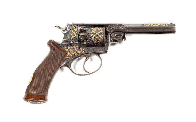 A Fine Adams Patent Five-Shot 120 Bore Percussion Revolver