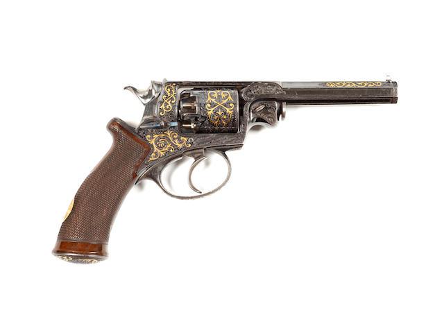 A Fine Adams Patent Five-Shot 120 Bore Percussion Revolver