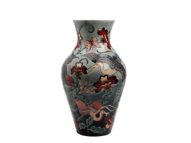 A large and impressive Moorcroft 'Kyoto' pattern limited edition vase, designed by Rachel Bishop Dated 1995