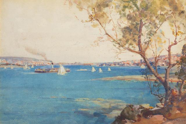 Benjamin Edwin Minns (Australian, 1864-1937) Sydney harbour