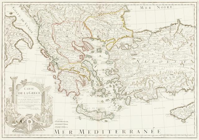 GREECE DE L'ISLE (GUILLAUME) Carte de la Grece, 1707; and 2 others (3)