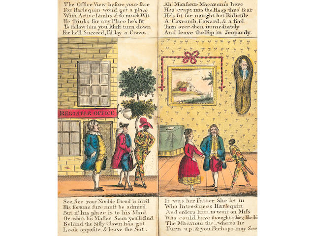 JUVENILE FLAP-BOOK The Pigmy Revels, or Harlequin Foundling, [c.1775]