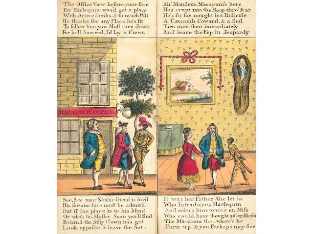 JUVENILE FLAP-BOOK The Pigmy Revels, or Harlequin Foundling, [c.1775]