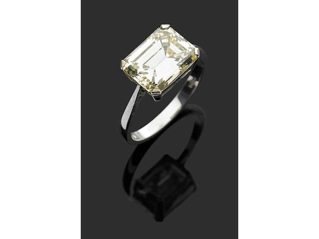 A 5.37 carat solitaire diamond ring