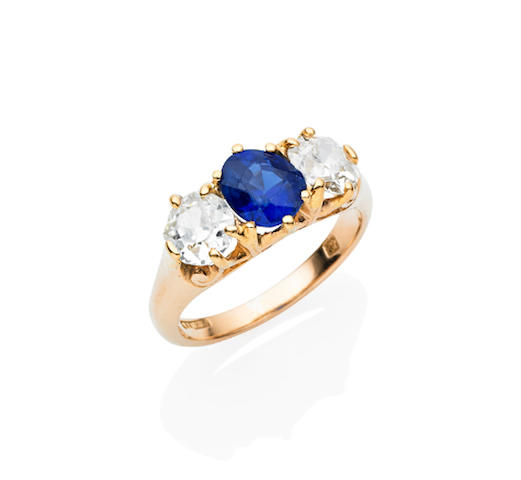 An antique Australian sapphire and diamond ring by Denis
