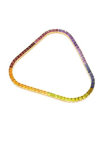 A multi-stone collar