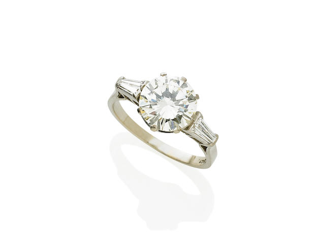 A 2.53 carat solitaire diamond ring