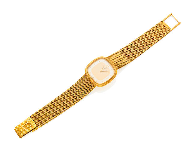A Lady's gold wristwatch by Omega