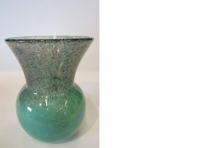 A monart glass vase