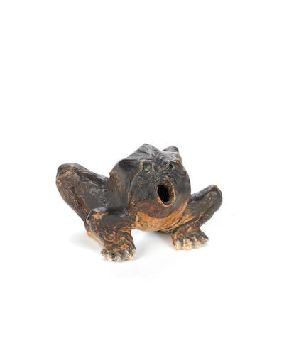 an earthenware sculpture of a frog Martin Brothers