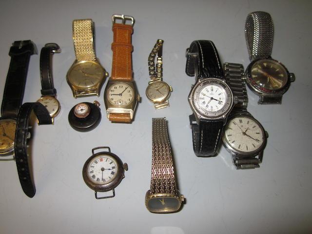 Bentima Star: A 9 carat gold gents bracelet watch, (Qty)