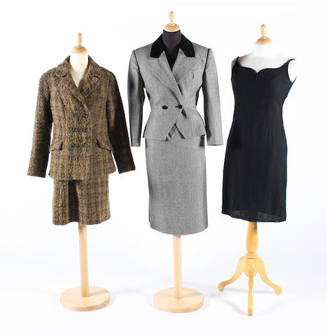 A group of 1950-80s clothing