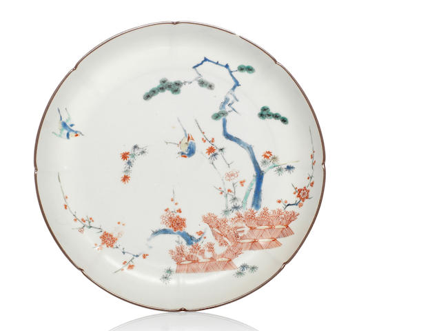 A Kakiemon saucer dish Late 17th century