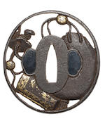 Nine various iron tsuba 17th to 19th century