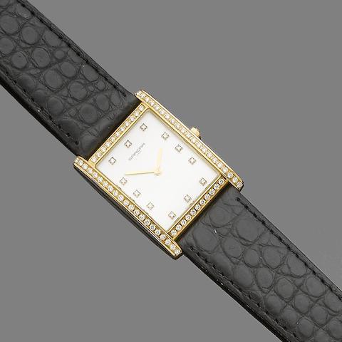 A diamond-set wristwatch, by Sarcar