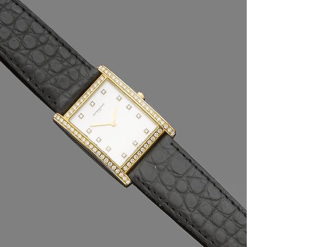 A diamond-set wristwatch, by Sarcar