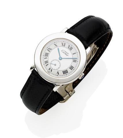 """A Gentleman's """"Must De Cartier"""" Wristwatch"""