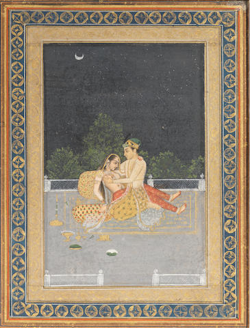 A prince and princess on a terrace Oudh, 18th Century