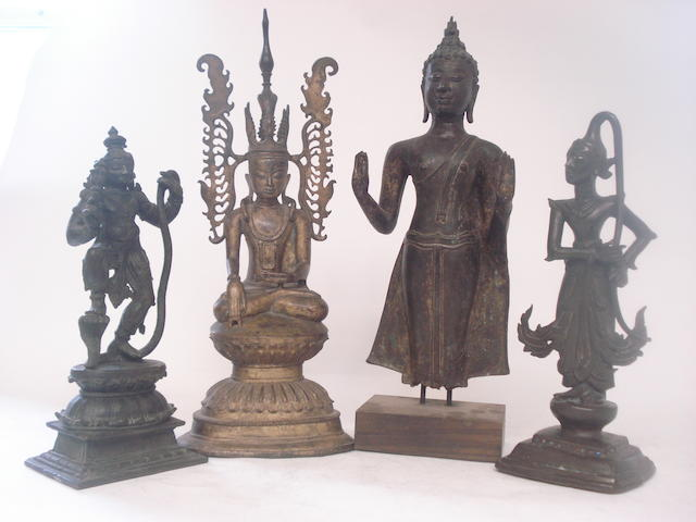 A collection of bronze deities South East Asian